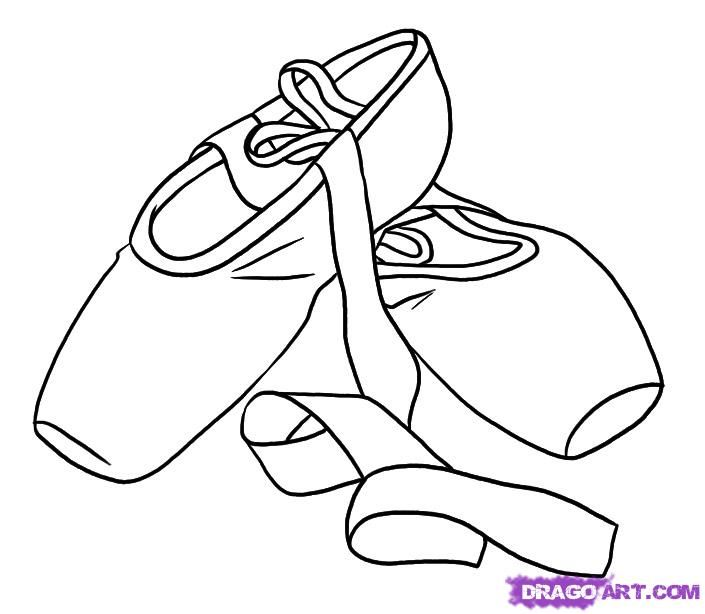 705x614 How To Draw Ballet Shoes, Step By Step, Stuff, Pop Cul