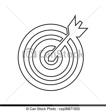 450x470 Target With Dart Icon Illustration Design Vector Clipart