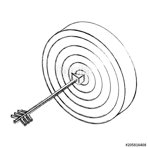 500x500 Target With Arrow Market Goal Strategy Concept Isometric Vector