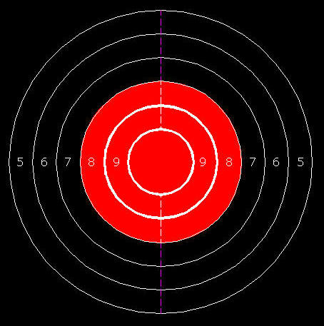 454x457 Cad Drawing Small Caliber Rifle Target