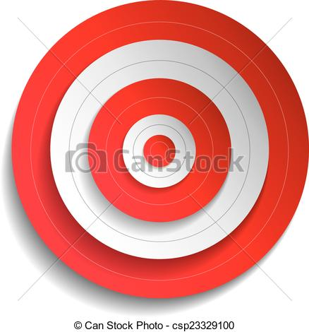 438x470 Illustration Of A Red Target Vector Clipart