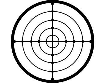 340x270 Official Gun Range Target Practice Poster Print 323 Home