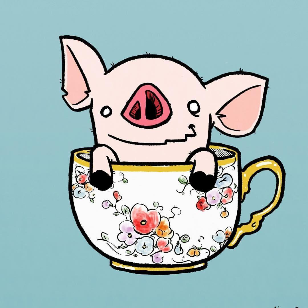1080x1080 Teacup Pig Crazy Pig Lady Teacup Pig