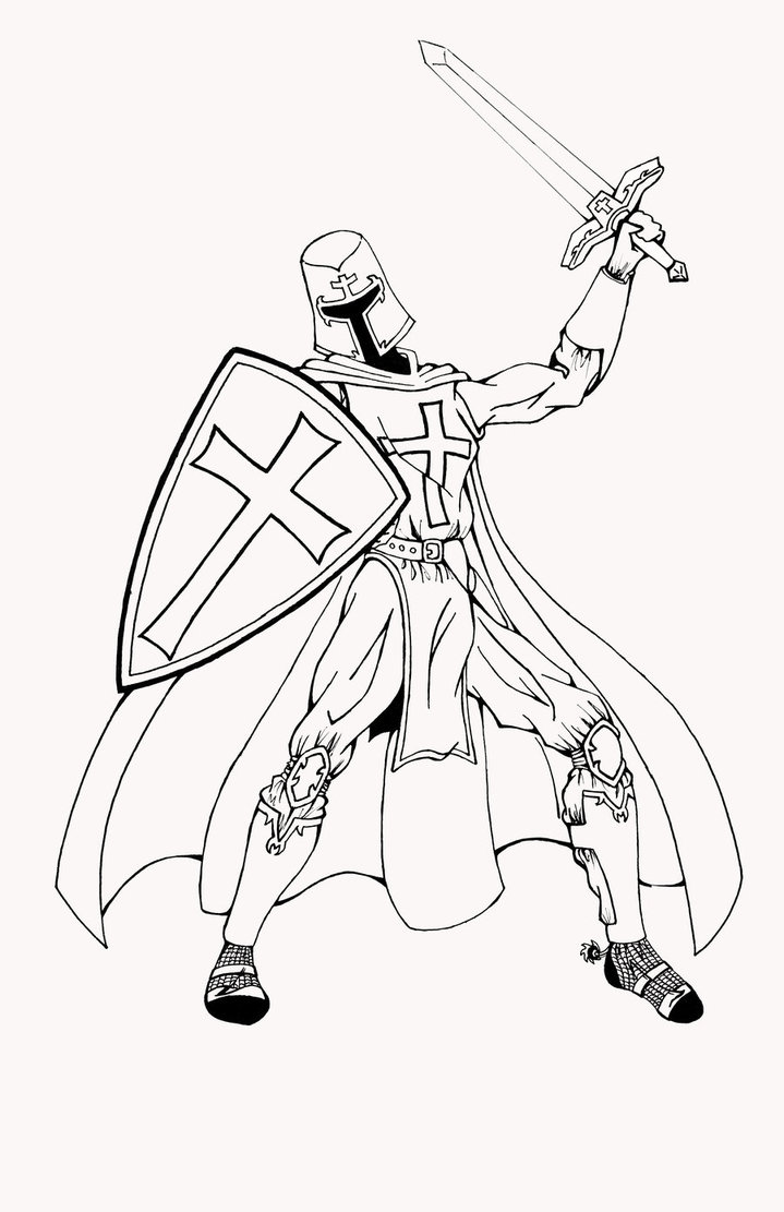 Templar Knight Drawing at GetDrawings.com | Free for personal use ...
