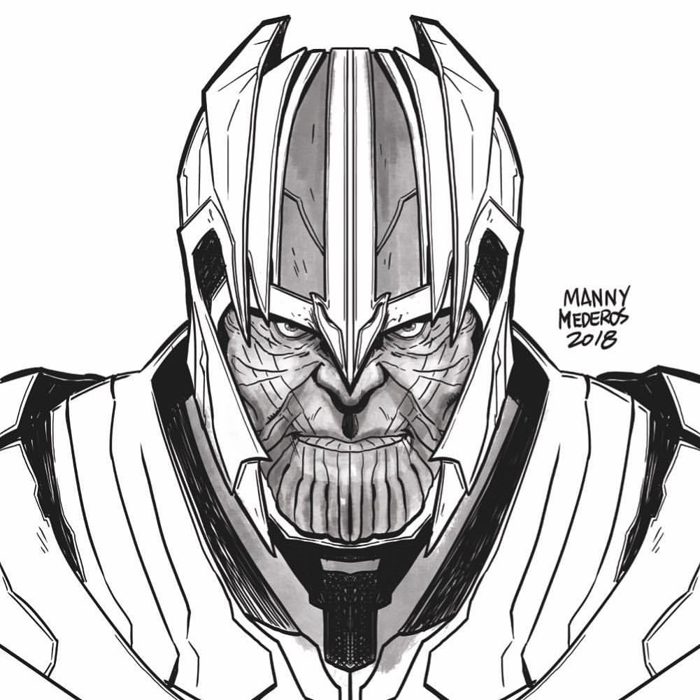 1001x1001 Manny Mederos A Thanos Warmup Sketch!