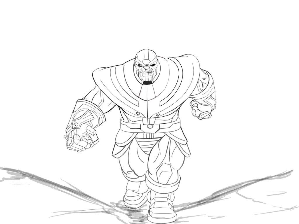 1024x768 Thanos Sketch By Hattonslayden