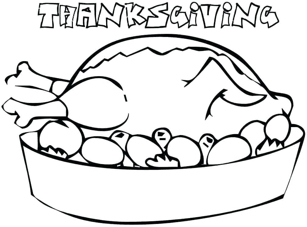 1007x743 Free Printable Thanksgiving Food Coloring Pages Printabl On Free