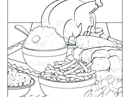 440x330 Plate Coloring Page Dinner Plate Coloring Page Thanksgiving Sheet