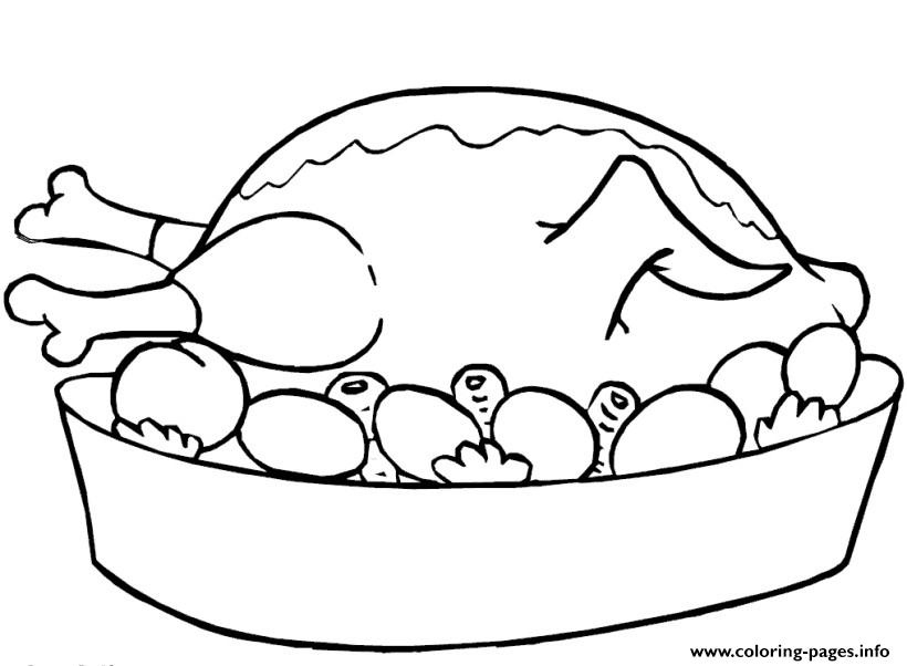820x602 Thanksgiving Food Coloring Pages