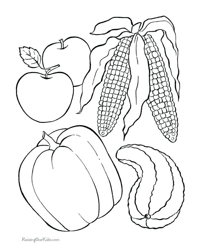 670x820 Thanksgiving Food Coloring Pages Thanksgiving Drawing Templates