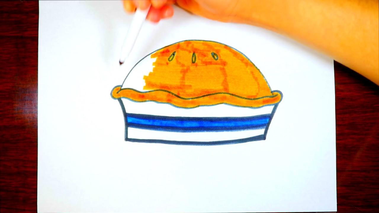 1280x720 Thanksgiving Food Drawing Thanksgiving Pie