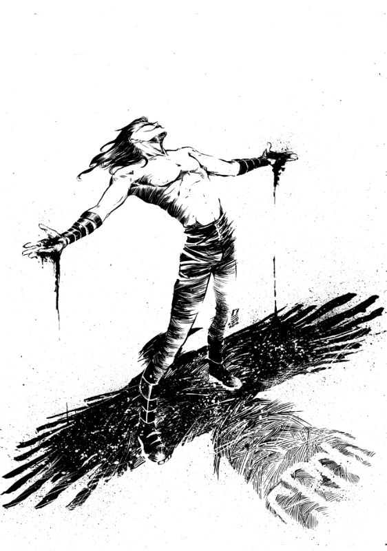 The Crow Drawing