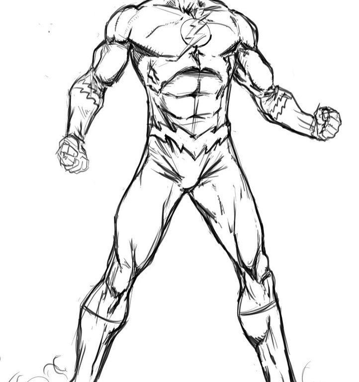 722x768 Incredible Ideas The Flash Coloring Pages Flash Coloring Page