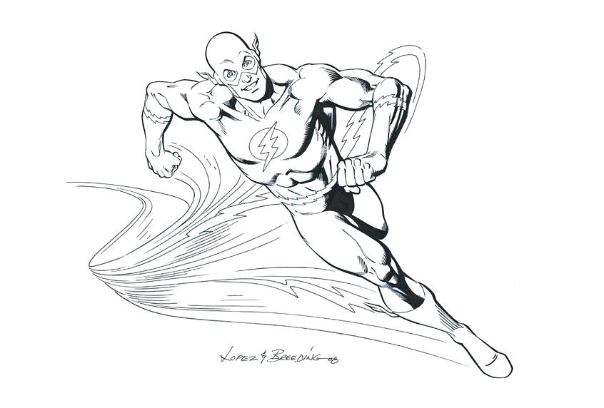 846x572 The Flash Coloring Pages The Flash Coloring Pages Running Effect