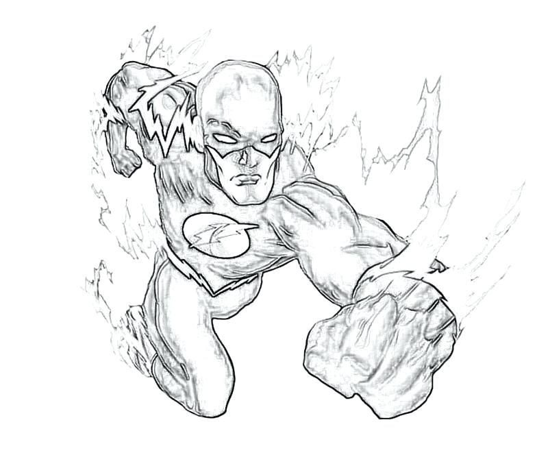800x667 The Flash Running Coloring Pages Plus Flash Is On Fire 113