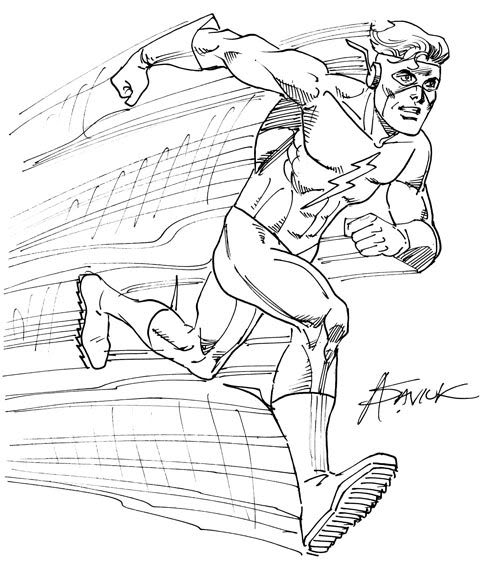 494x576 Collection Of Kid Flash Running Drawing High Quality, Free