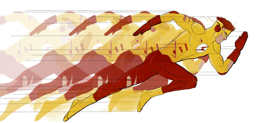 1024x488 Collection Of Kid Flash Running Drawing High Quality, Free