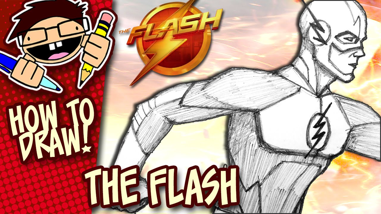 1280x720 How To Draw The Flash (The Cw Tv Series) Version 1 Narrated Easy