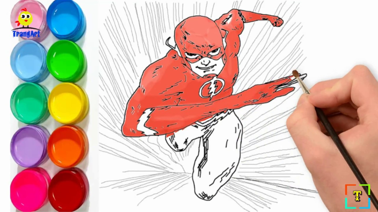 1280x720 How To Draw The Flash Running Easy The Flash Coloring Pages