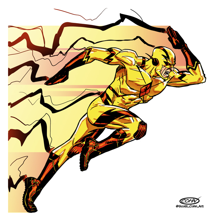 682x700 Reverse Flash By Scottcohn