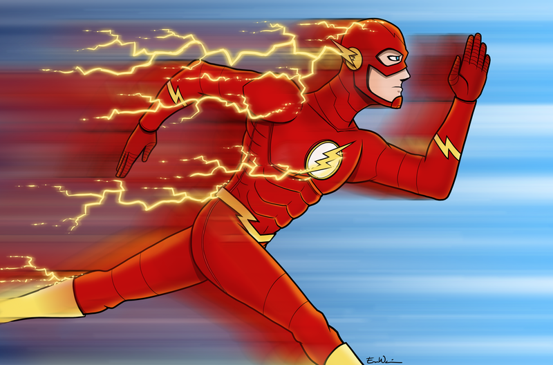800x528 The Flash Running By Ebbewaxin