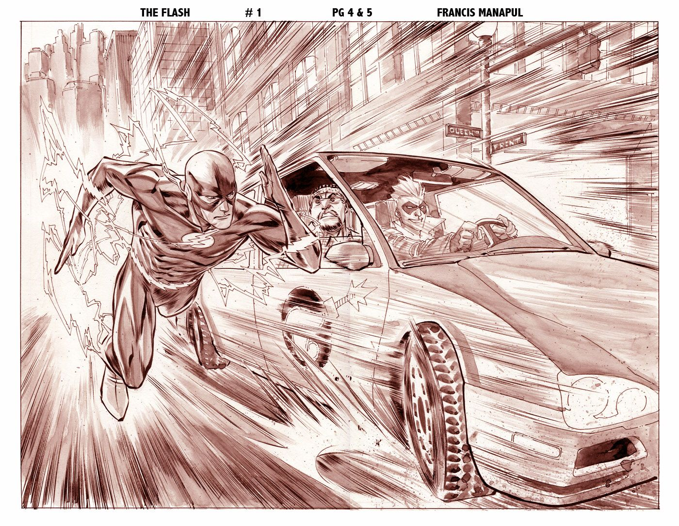 1400x1084 Flash Comic Drawing The Flash 1 Preview Pg 3n4 By Manapul