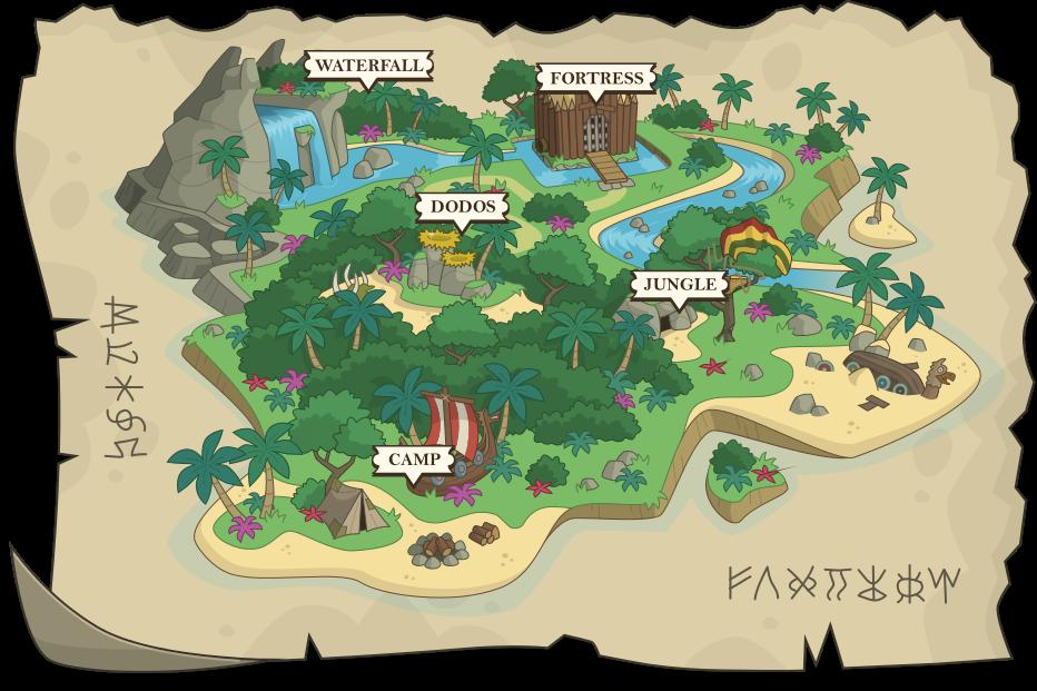 Monkey Island Treasure Map