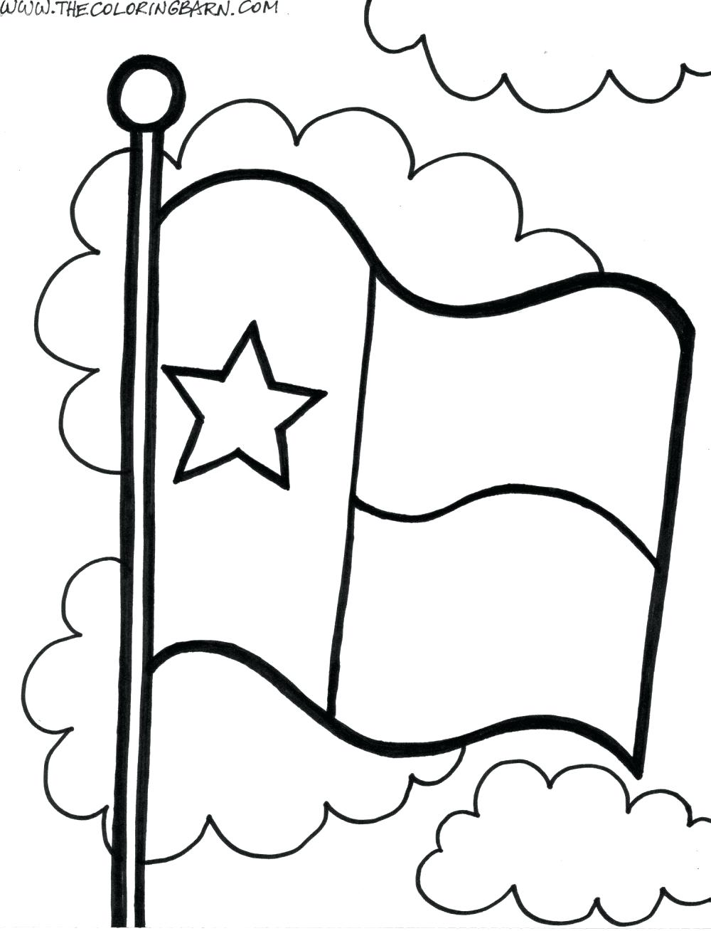 1000x1308 State Flag Coloring Page Lovely State Drawing At Of State Flag
