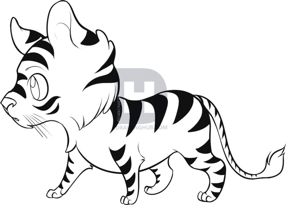 Tiger head drawing easy at getdrawings free for personal use 1001x720 how to draw an easy tiger step by step drawing guide by publicscrutiny Images