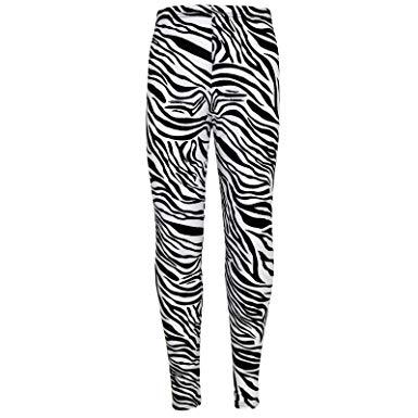 385x385 Girls Legging Kids Animal Zebra Print Stylish Fashion Leggings 7 8