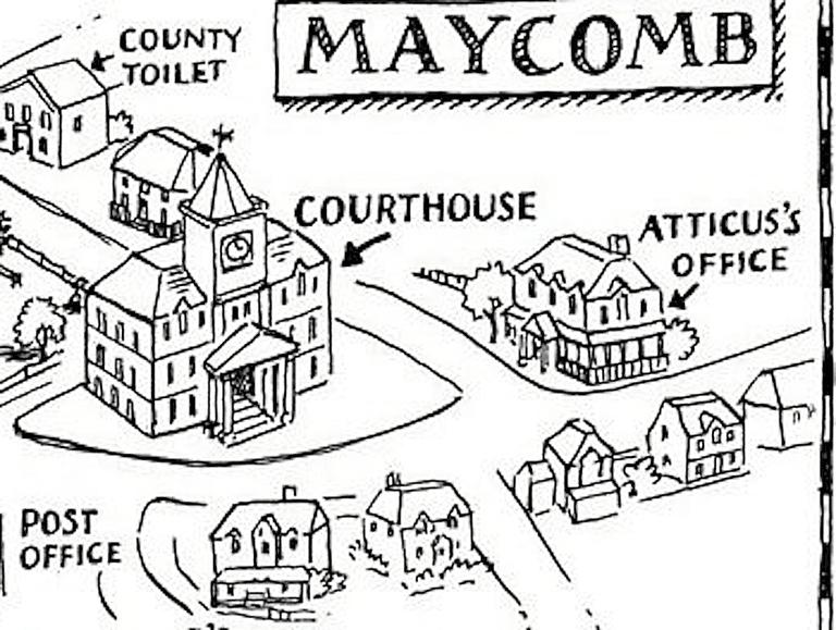 768x579 Map Maycomb To Kill A Mockingbird To Kill A Mockingbird Map