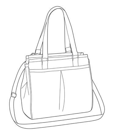 Tote Bag Technical Drawing
