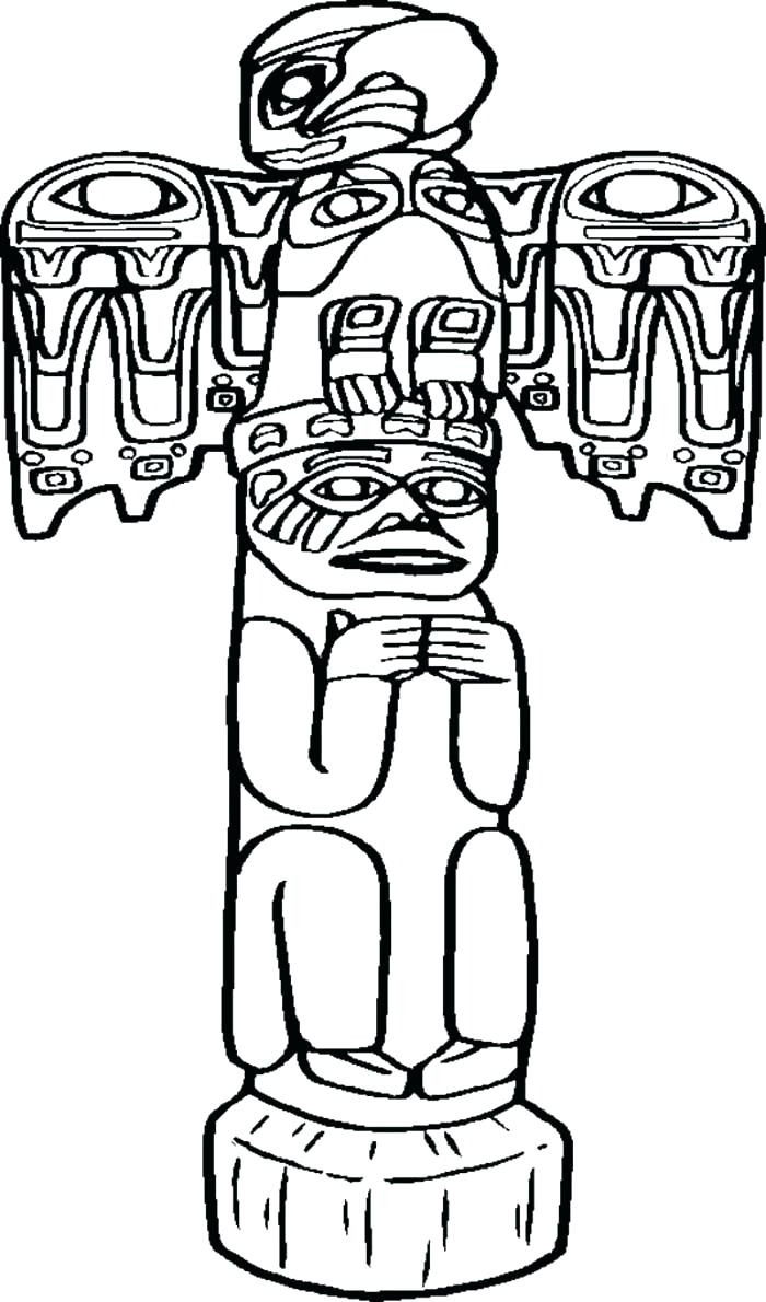 Totem Pole Drawing Easy At Getdrawings Com Free For Personal Use