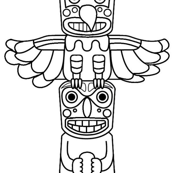 Totem Pole Drawing Easy at GetDrawings | Free download