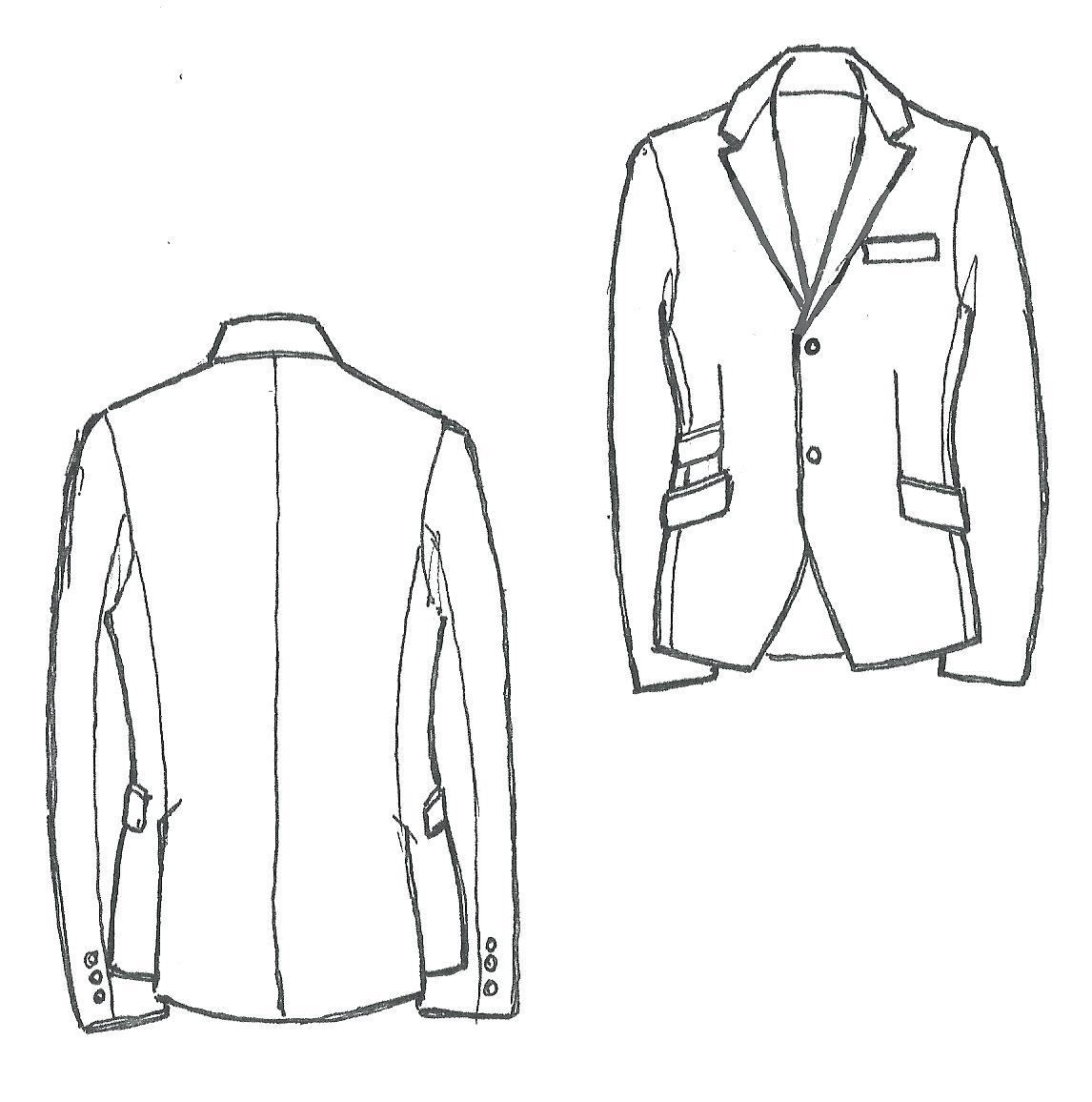 1146x1156 Template Suit Jacket Template Drawn Coat 4 Tracksuit. Suit Jacket