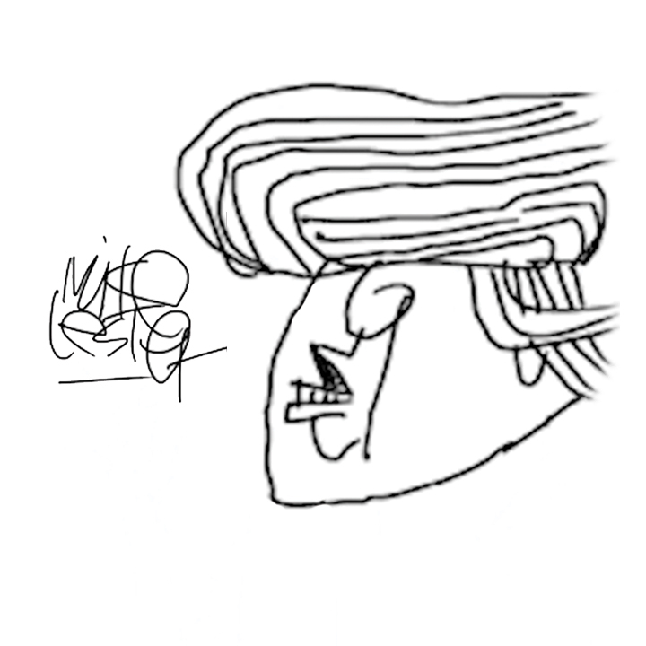 720x720 Drawing Trump