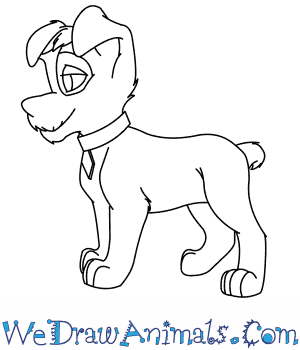 300x350 How To Draw Scamp From Lady And The Tramp