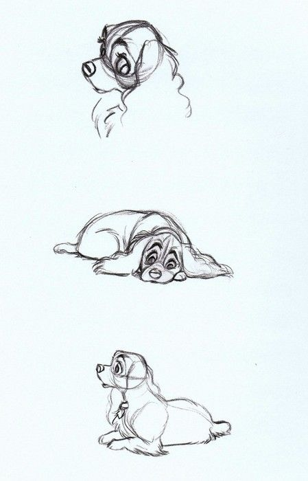 449x700 Lady And The Tramp (1955) Concept Art Disney