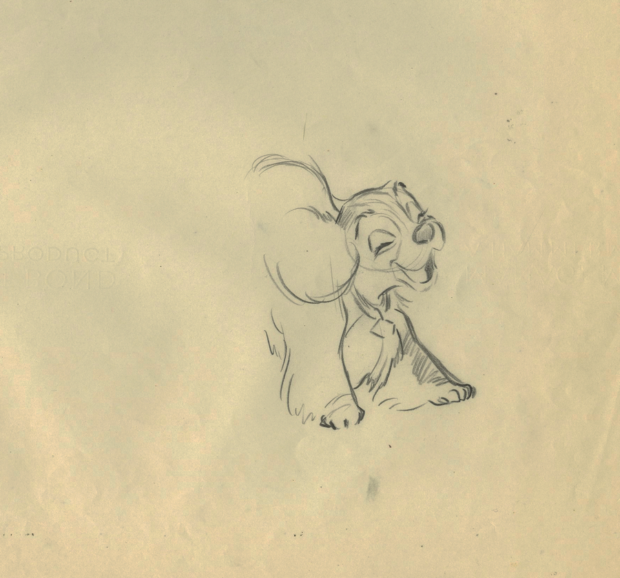 900x839 Lady And The Tramp Production Drawing