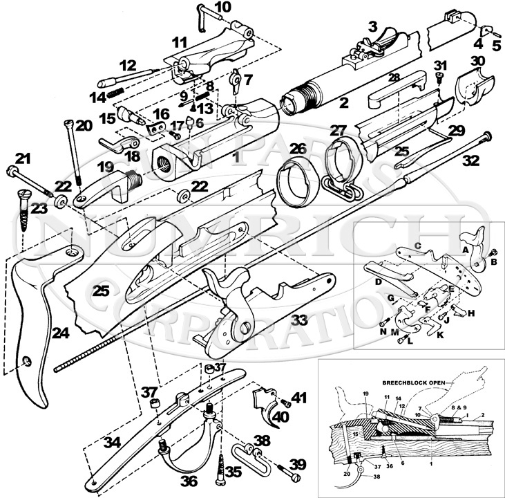 731x720 1873 Trapdoor Springfield Rifle Parts Numrich