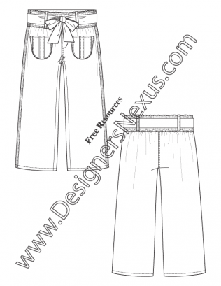 316x409 Free Downloads Illustrator Pants Flat Sketches