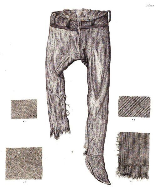 498x600 Drawing Of Thorsberg Trousers Amp Textile Patterns. From Conrad