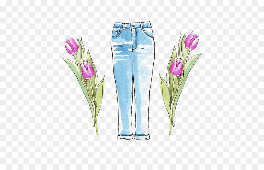 900x580 Jeans Trousers Drawing