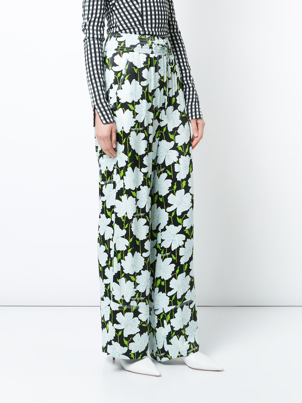 1000x1334 Off White Femme Floral Print Trousers Multi The Milan