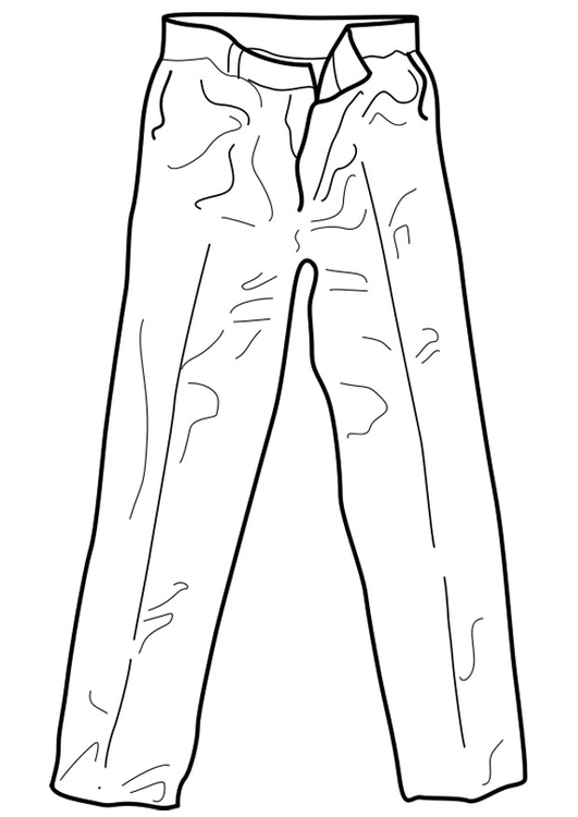 531x750 Coloring Page Trousers