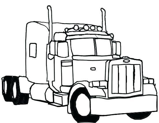 550x426 Big Trucks Coloring Pages Dump Truck Transport Pictures To Color