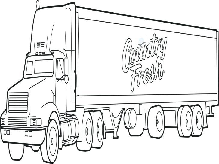 728x546 Semi Truck Coloring Page Medium Size Of Semi Truck Coloring Pages