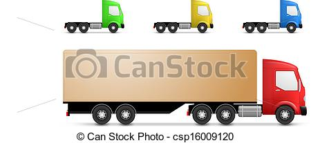 450x207 Cargo Truck Illustration. Side View Of A Small Cargo Trucks