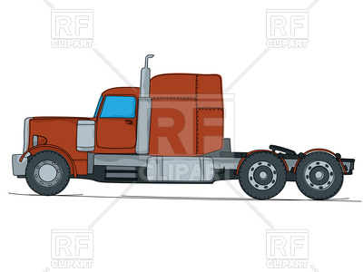 400x300 Cartoon Drawing Of A Big Red American Truck