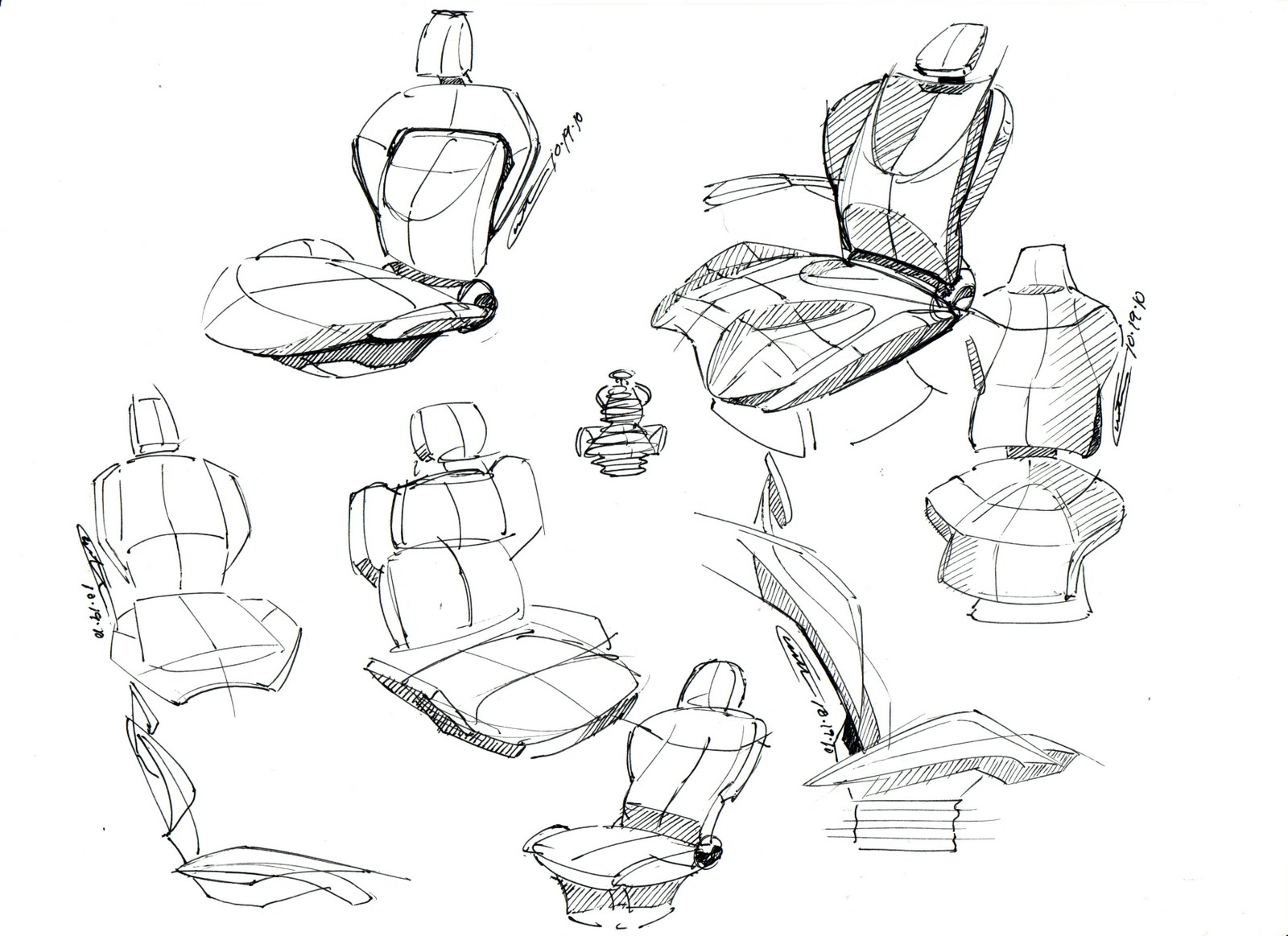 1600x1163 Custer Design Works Early Seat Sketches For A Class 8 Truck